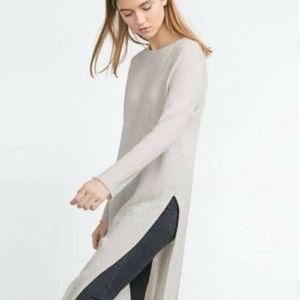 Zara longline knit Tunic